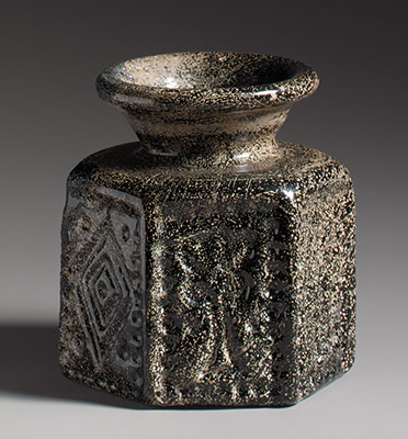 Hexagonal Pilgrims Jar with Jewish Symbol