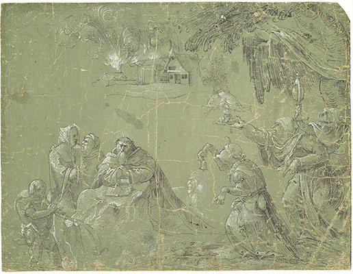 The Temptation of Saint Anthony (recto); Fantastic Landscape (verso)