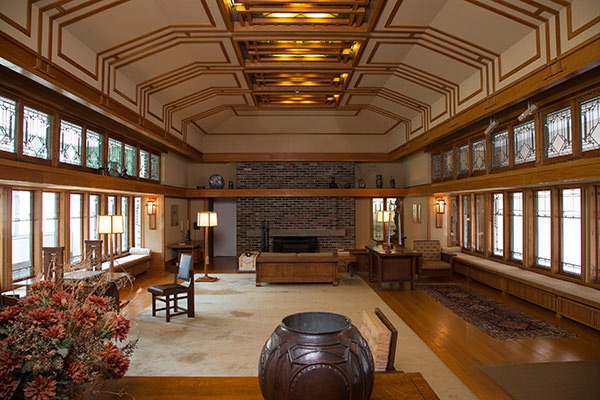 Living Room from the Francis W. Little House: Windows and paneling
