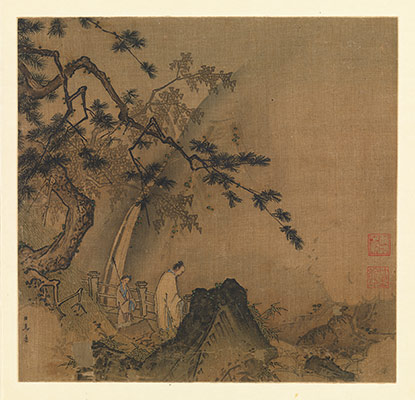 east asian cultural exchange in tiger and dragon paintings essay  scholar viewing a waterfall