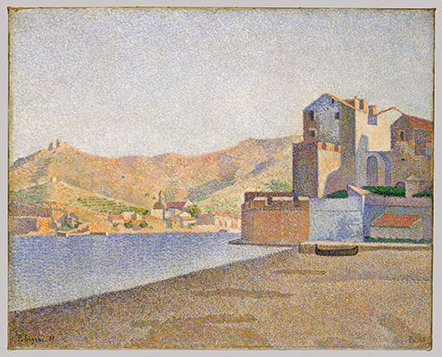 the transformation of landscape painting in essay  the town beach collioure opus 165 collioure la plage de la ville