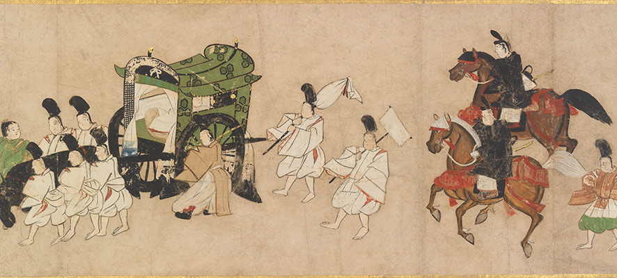 Scene from Channel Buoys (Miotsukushi), chapter 14 of the Tale of Genji