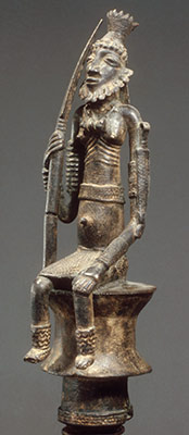 Staff: Seated Male Figure