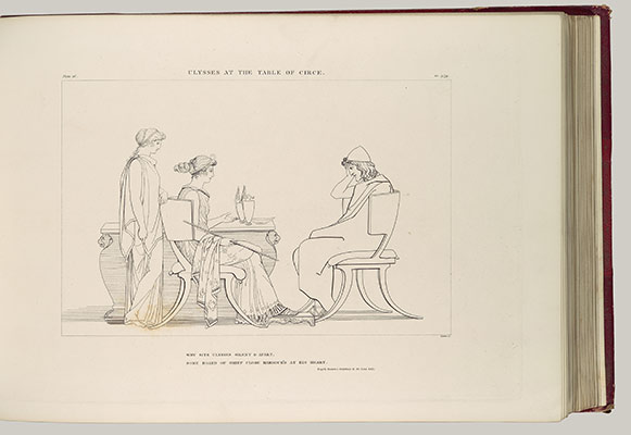 Ulysses at the Table of Circe: Plate 16 of The Odyssey of Homer Engraved from the Compositions of John Flaxman R.A.