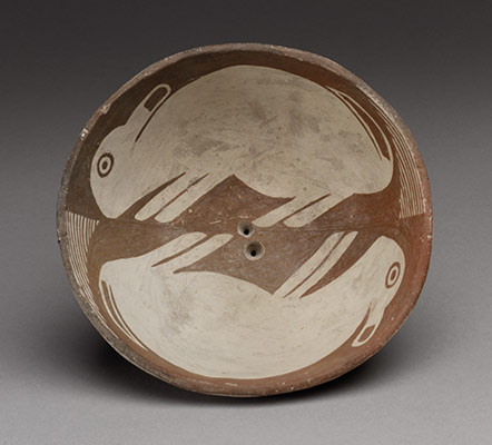 Bowl with Pair of Rabbits
