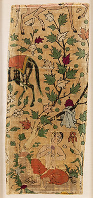 Velvet Fragment with Design from Nizamis Khusrau and Shirin