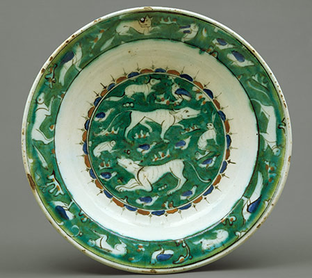 Dish with Bird, Rabbit and Quadruped Design