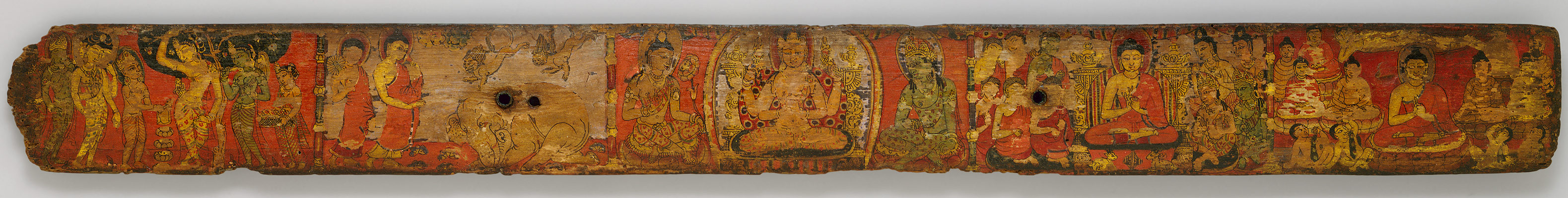 Bookcover with scenes from the life of the Buddha