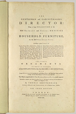 The Gentleman and Cabinet-Makers Director: Title Page