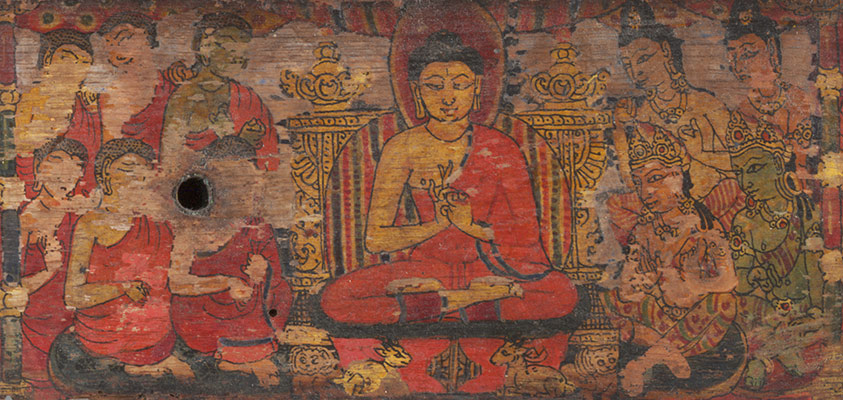 One of a Pair of Jain Manuscript Covers (Patli)
