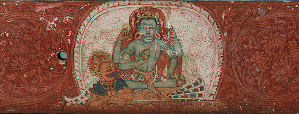 Manuscript Cover with Vishnu Flanked by Lakshmi and Sarasvati