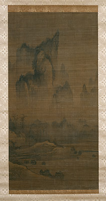 Evening bell from mist-shrouded temple (left); Autumn moon over Lake Dongting (right)