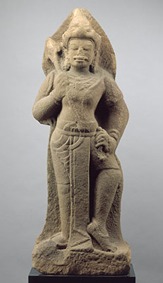 Standing Shiva or temple guardian (dvarapala)