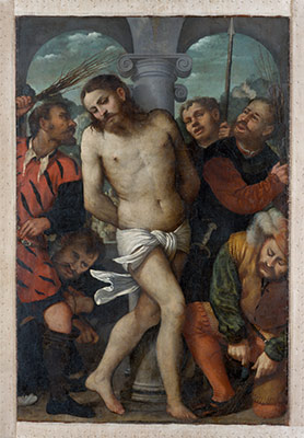 The Flagellation; (reverse) The Madonna of Mercy