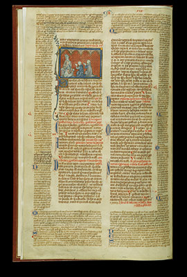 Bifolium with the Decretals of Gratian