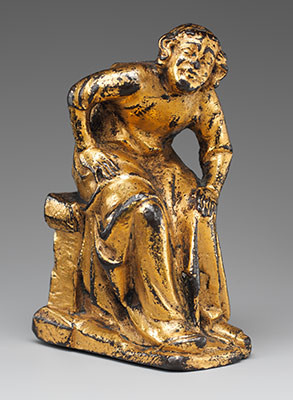 Support Figure of a Seated Cleric or Friar