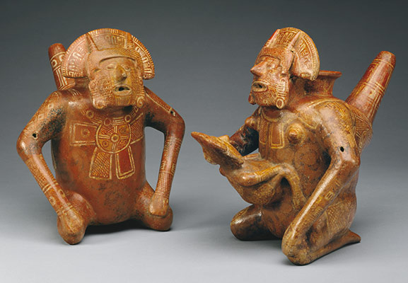 Pair of Figure Vessels