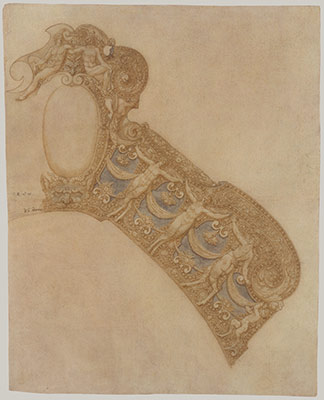 Design for the Pommel Plate of a Saddle from a Garniture of Alessandro Farnese (1520–1589)