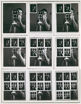 Nine Polaroid Portraits of a Mirror