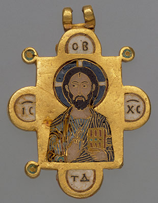 Double-Sided Pendant Icon with the Virgin and Christ Pantokrator