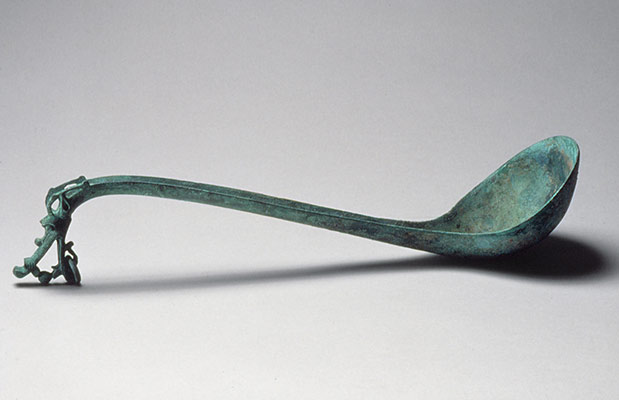 Ladle with Handle in the Shape of a Dragons Head