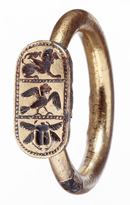 Silver gilt ring