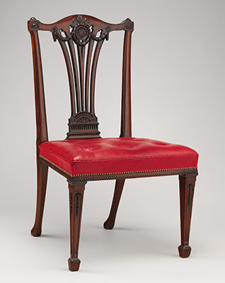 Set of fourteen side chairs