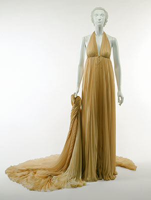 Evening gown with wrap