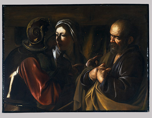 caravaggio michelangelo merisi and his followers  the denial of saint peter