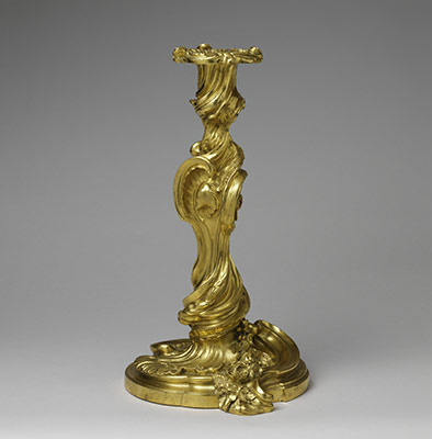 The art form and function of gilt bronze in the french interior pair of candlesticks flambeaux or chandeliers sciox Images