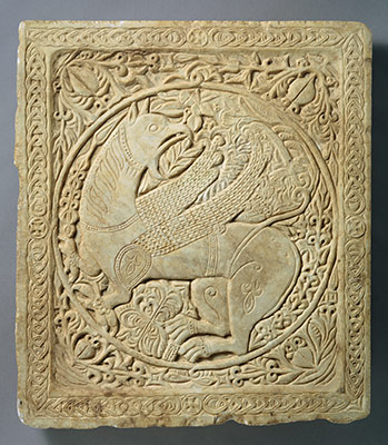 Panel with a Griffin