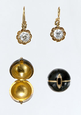 Pair of Earrings with Snap-on Covers