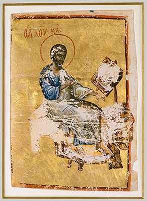 Manuscript Illumination with the Evangelist Luke