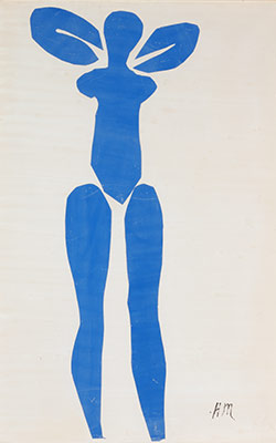 Standing Blue Nude
