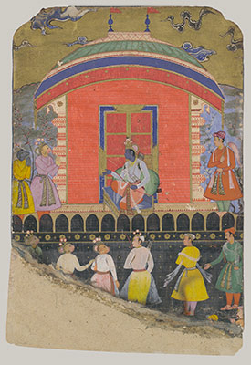 Rama Receives Sugriva and Jambavat, the Monkey and Bear Kings, Folio from a Ramayana