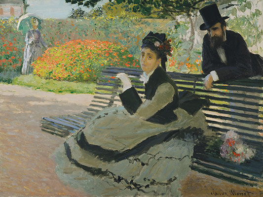 Camille Monet (1847–1879) on a Garden Bench