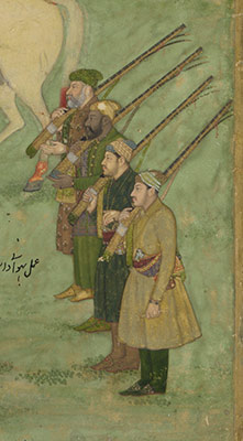 The Emperor Aurangzeb Carried on a Palanquin