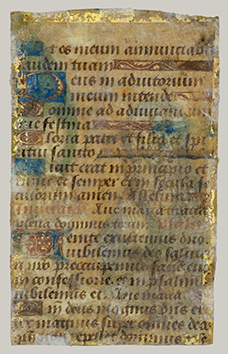 Manuscript Leaf with the Annunciation from a Book of Hours