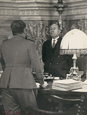 Mussolini Giving Orders to Teruzzi, Commandant of the Fascist Militia