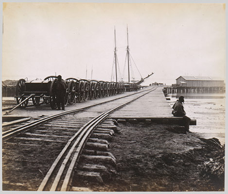 Ordnance Wharf, City Point, Virginia