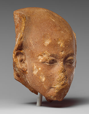 Head of a princess from a group statue