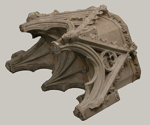 Canopy from the tomb of Philip III (the Bold) of France (1245–1285)