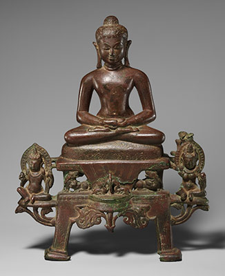 Enthroned Jina, Probably Neminatha