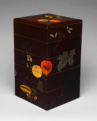 Tiered Food Box with Summer and Autumn Fruits