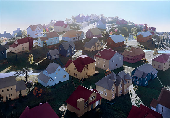 James Casebere: Landscape with Houses (Dutchess County, NY) #1