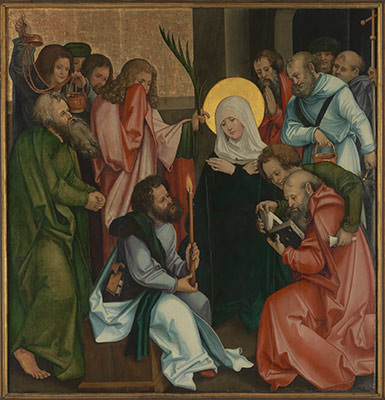 The Dormition of the Virgin; Christ Carrying the Cross