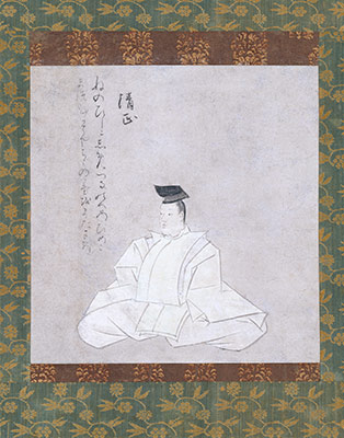 The Poet Fujiwara Kiyotada, from the Narikane Version of the Thirty-six Poetic Immortals