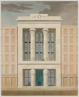American Institute New York City Front Elevation