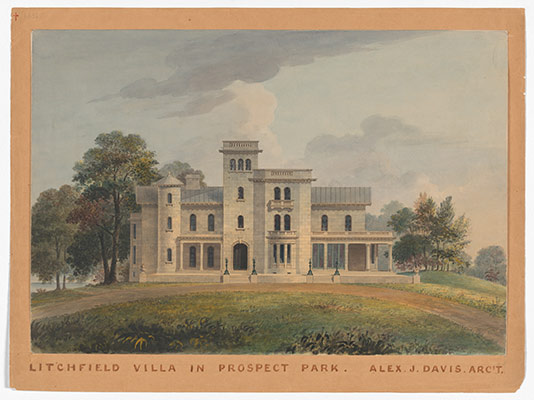 Grace Hill for Edwin C. Litchfield, Brooklyn, New York (front elevation)