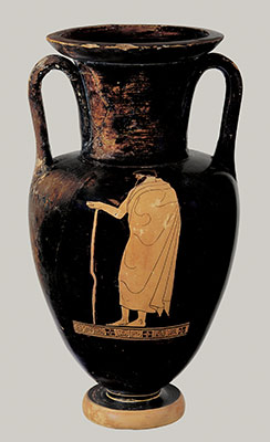 Terracotta Nolan neck-amphora (jar)